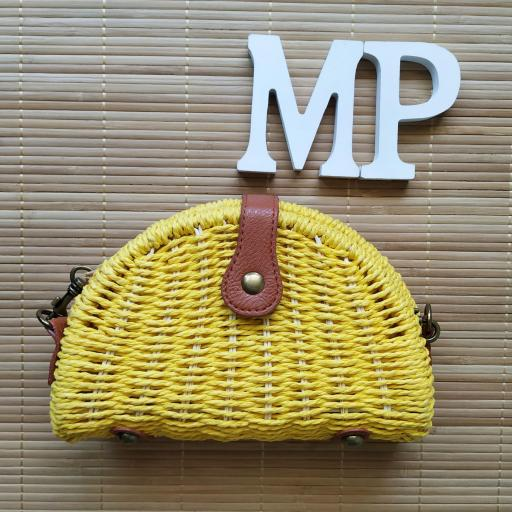 Bolso de Mimbre Amarillo