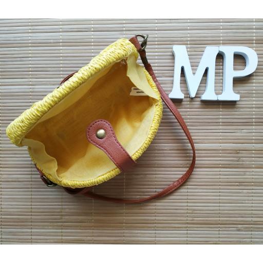 Bolso de Mimbre Amarillo [1]