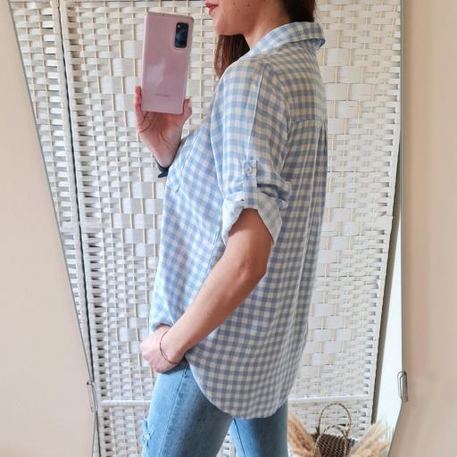 Camisa Cuadros Celeste [2]