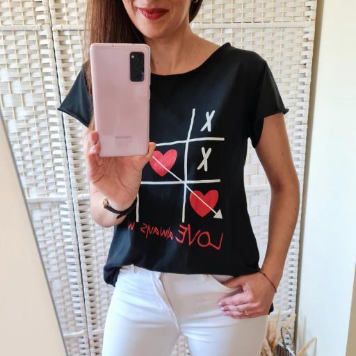Camiseta 3 en Raya Negra [1]