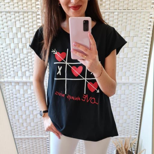 Camiseta 3 en Raya Negra [2]
