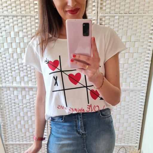 Camiseta 3 en Raya Blanca [1]