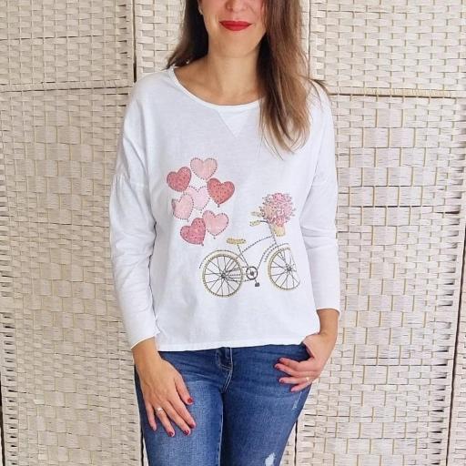 Camiseta Bici Globos