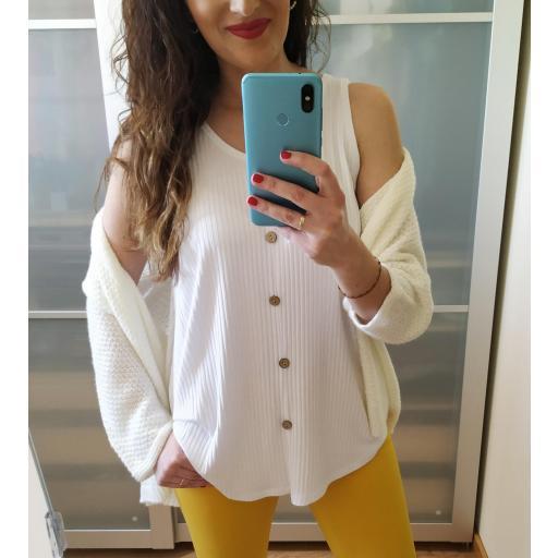 Camiseta Blanca Evasé