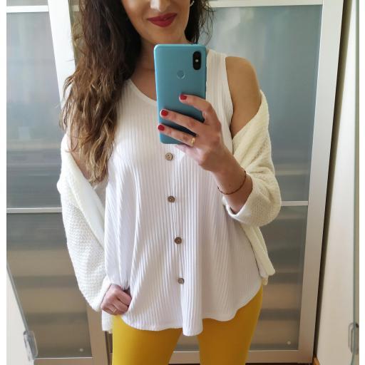 Camiseta Blanca Evasé [1]