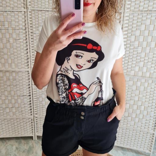 Camiseta Blancanieves Tattoo