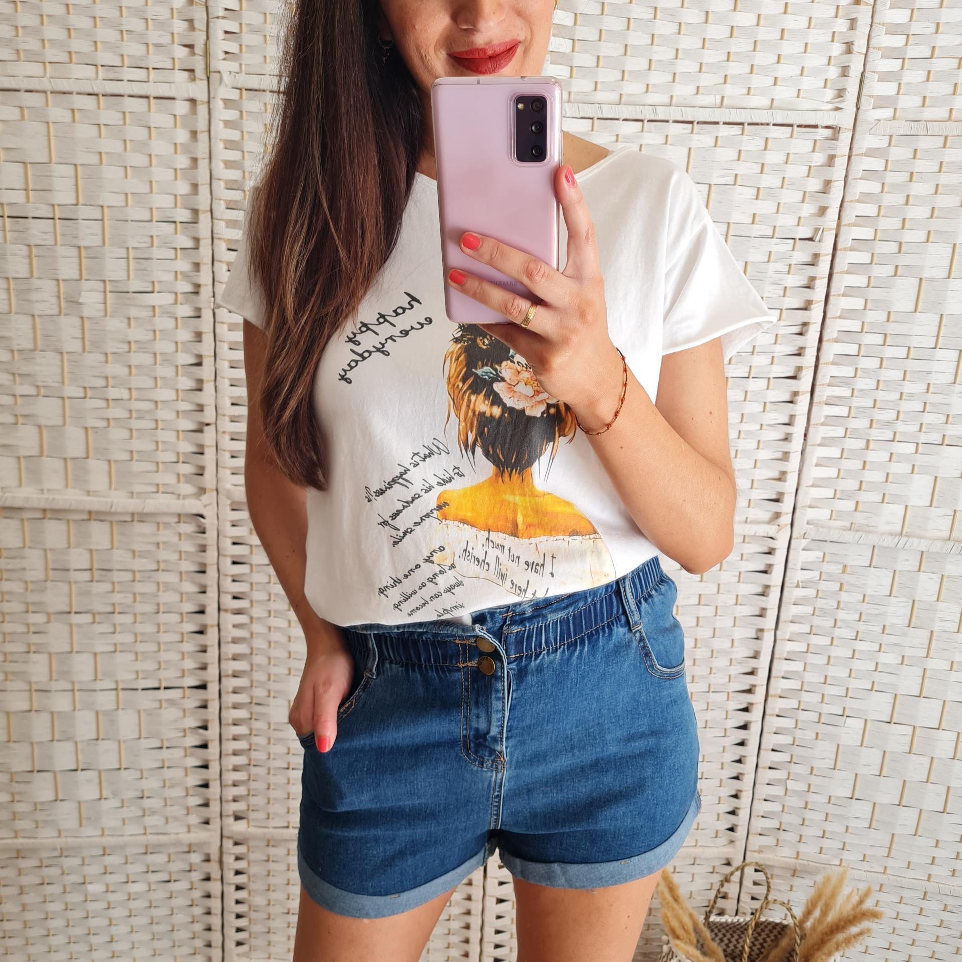 Camiseta Busto Mostaza