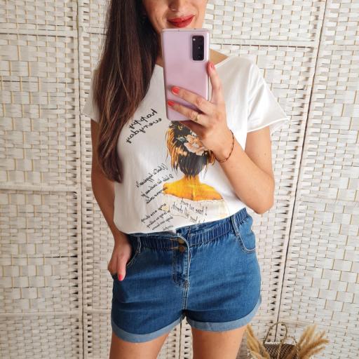Camiseta Busto Mostaza [0]