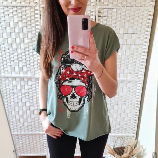 Camiseta Calavera Militar [1]