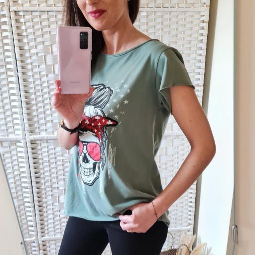 Camiseta Calavera Militar [2]