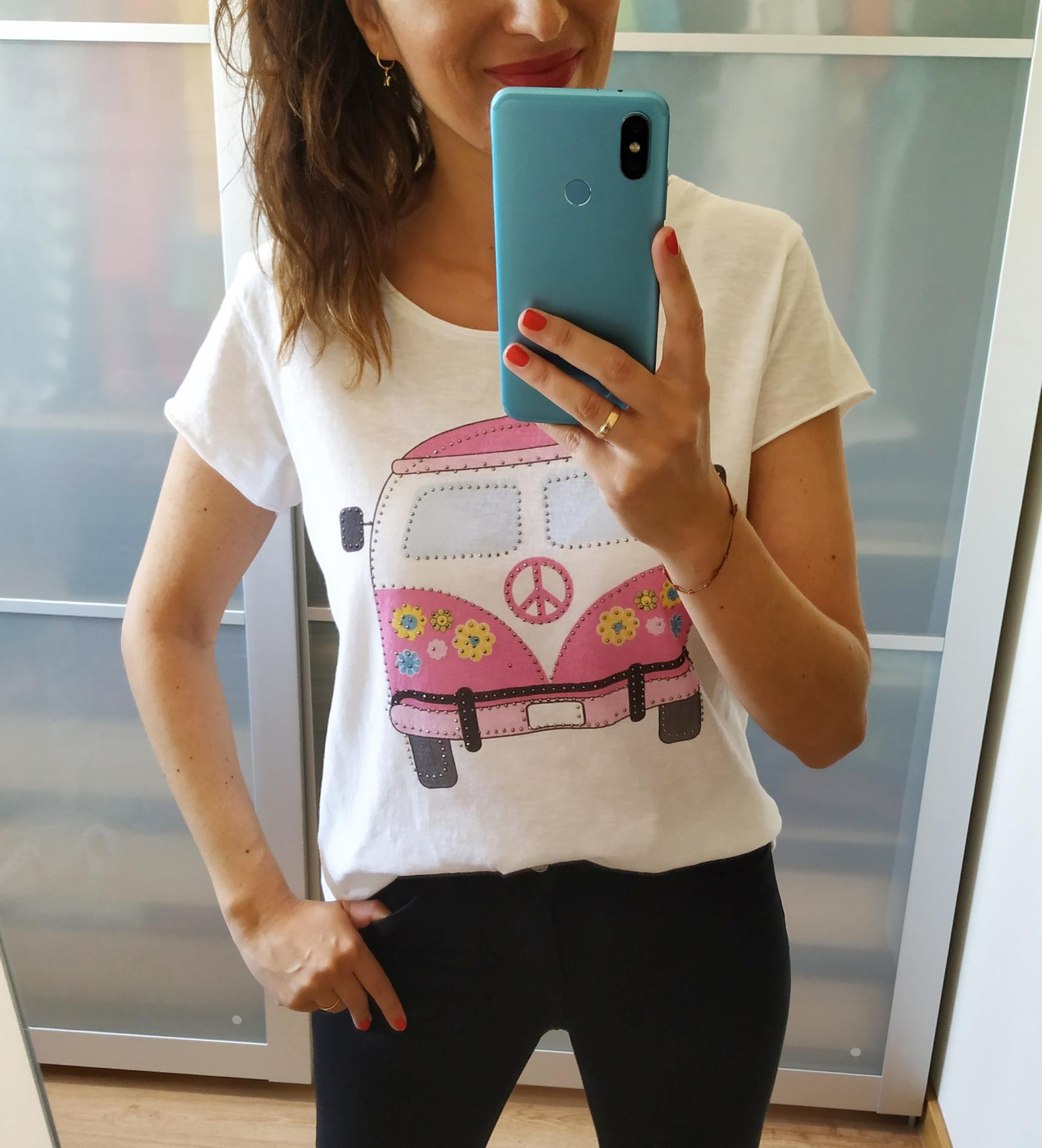 Camiseta Caravana Rosa
