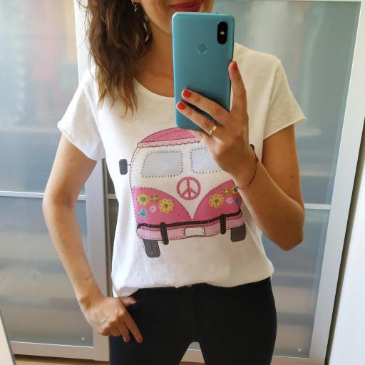 Camiseta Caravana Rosa [0]