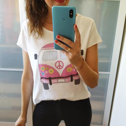 Camiseta Caravana Rosa [1]