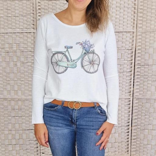 Camiseta Ciclo Azul