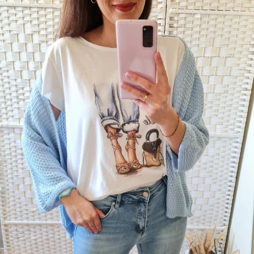 Camiseta Glamour Corta