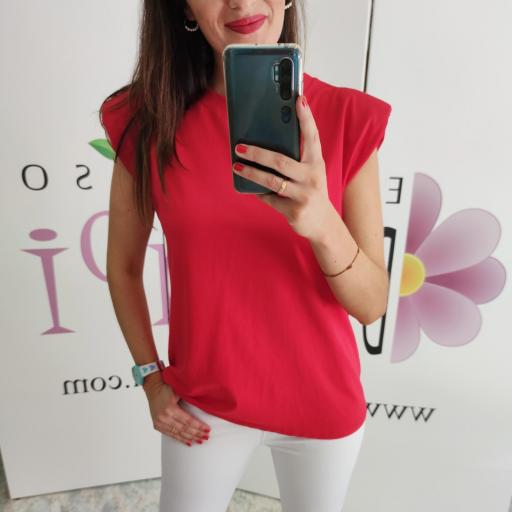 Camiseta Hombreras Roja [1]