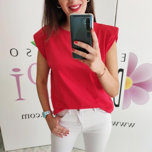 Camiseta Hombreras Roja