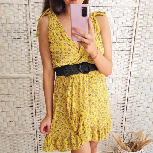 Vestido Mostaza Flores [2]