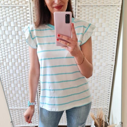 Camiseta Rayas Turquesa [1]