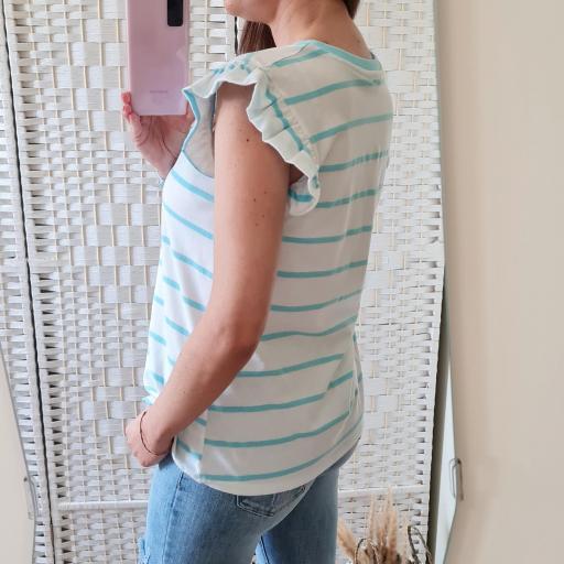 Camiseta Rayas Turquesa [3]