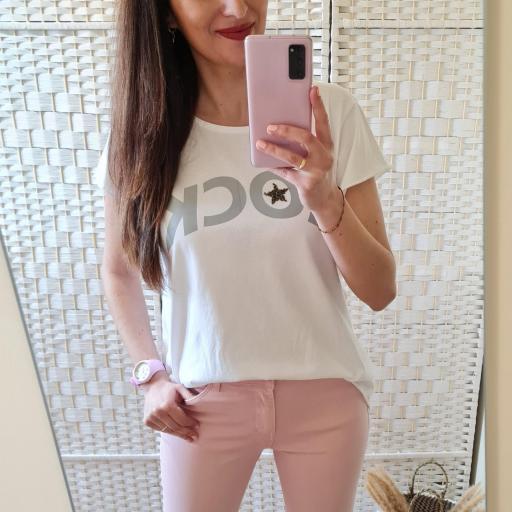 Camiseta Rock Blanca