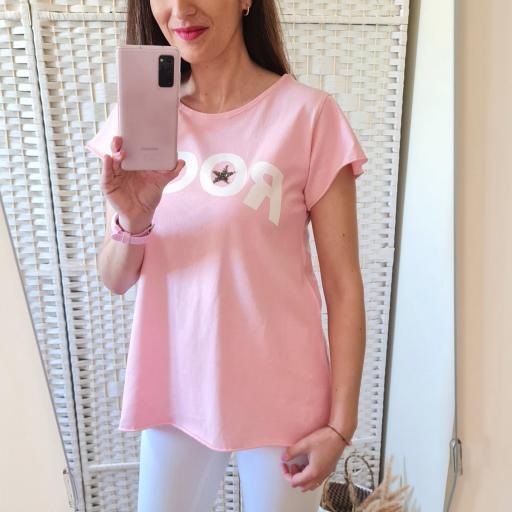 Camiseta Rock Rosa [3]