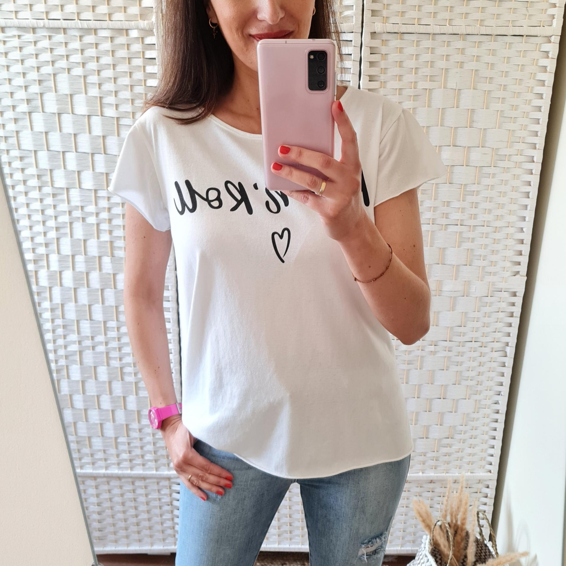 Camiseta Rock'n'Roll Blanca