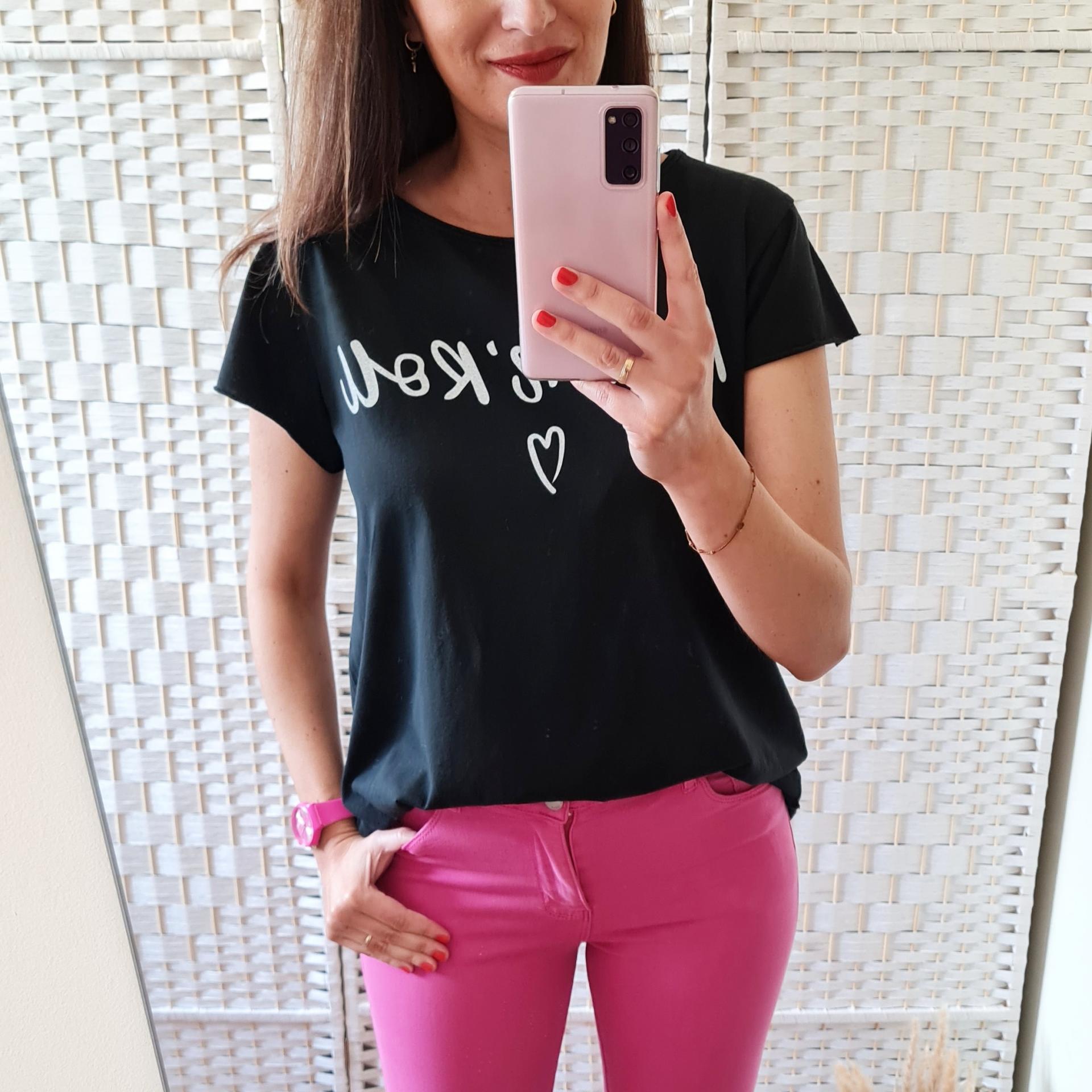 Camiseta Rock'n'Roll Negra