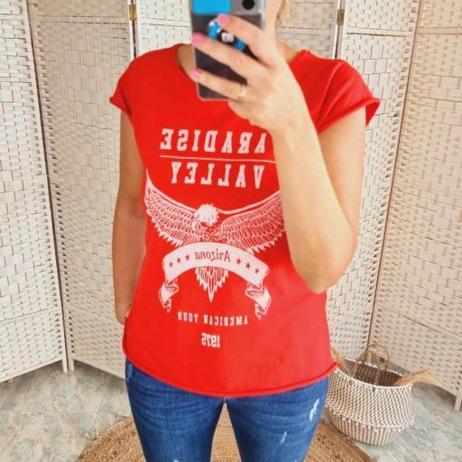 Camiseta Roja Paradise