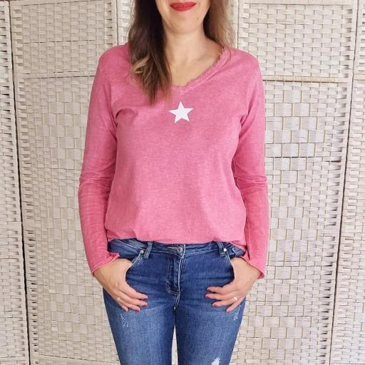Camiseta Rosa Estrella