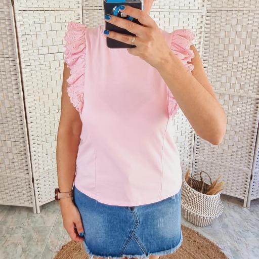 Camiseta Rosa Volantes [1]