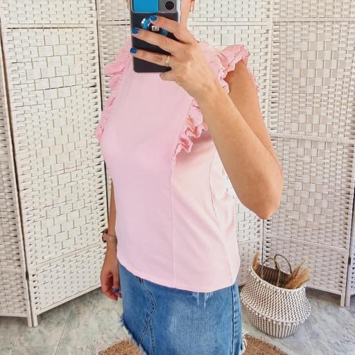 Camiseta Rosa Volantes [3]