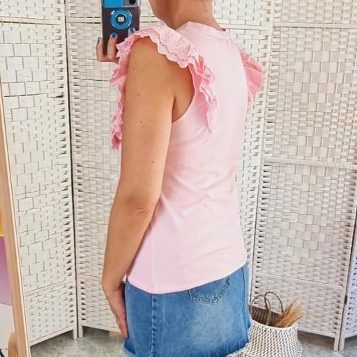 Camiseta Rosa Volantes [2]