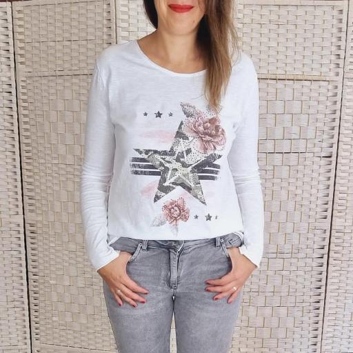 Camiseta Rose Star