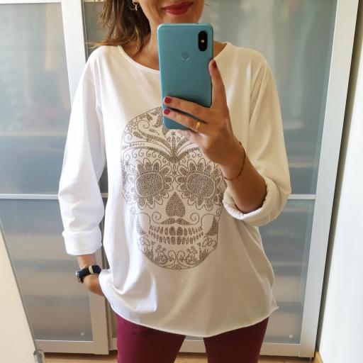 Camiseta Tachas Calavera [1]