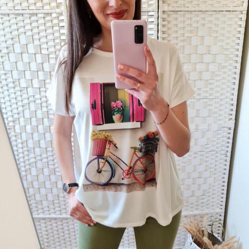 Camiseta Ventana Flores [1]