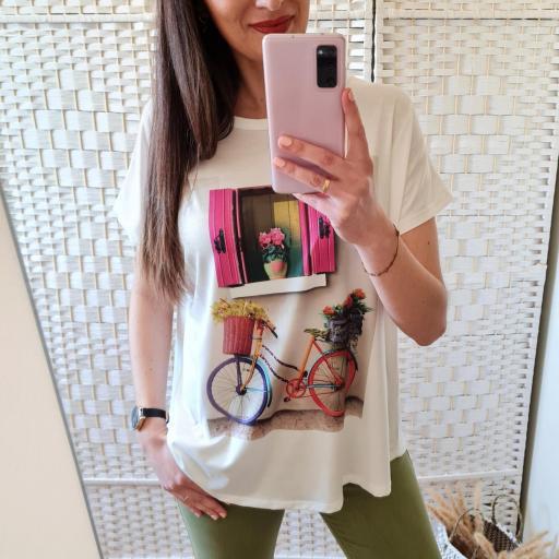 Camiseta Ventana Flores [3]