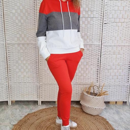 Chándal Tricolor Rojo [2]