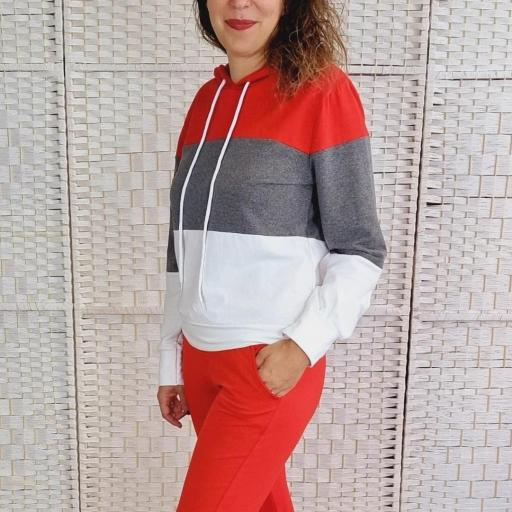 Chándal Tricolor Rojo [3]