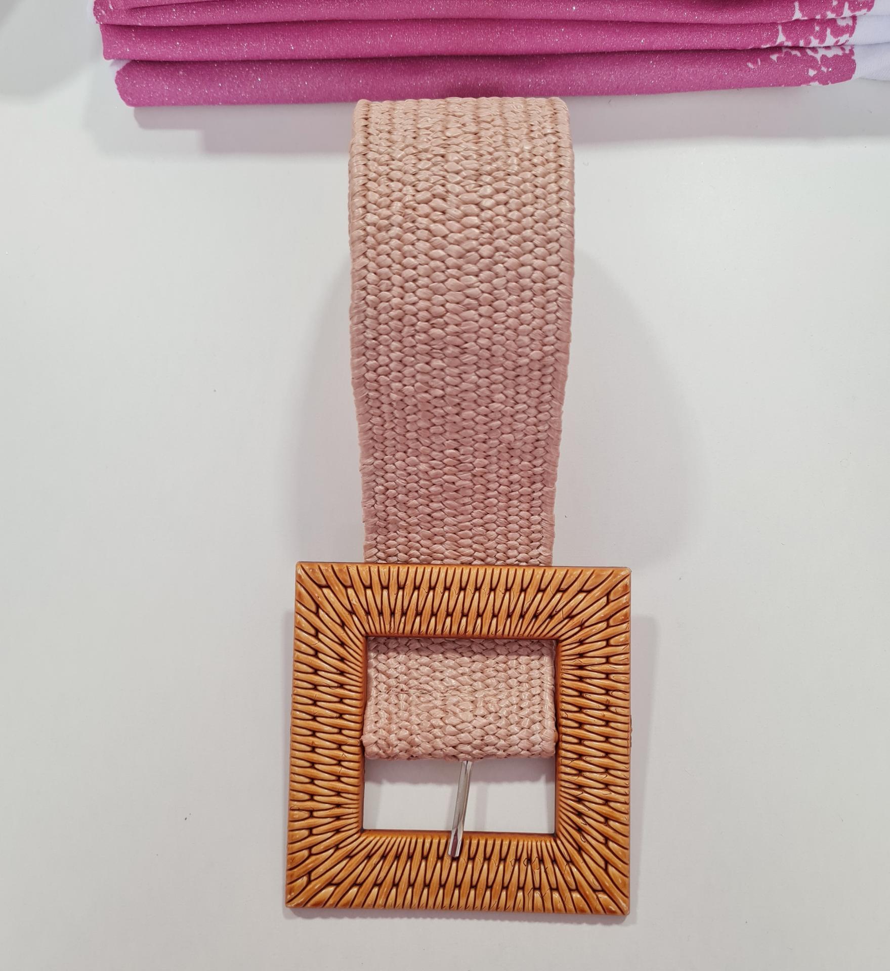 Cinturón Elástico Milán Rosa