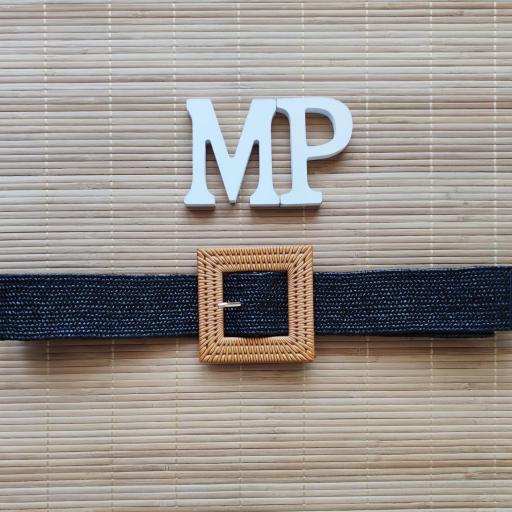 Cinturón Elástico Milán Negro