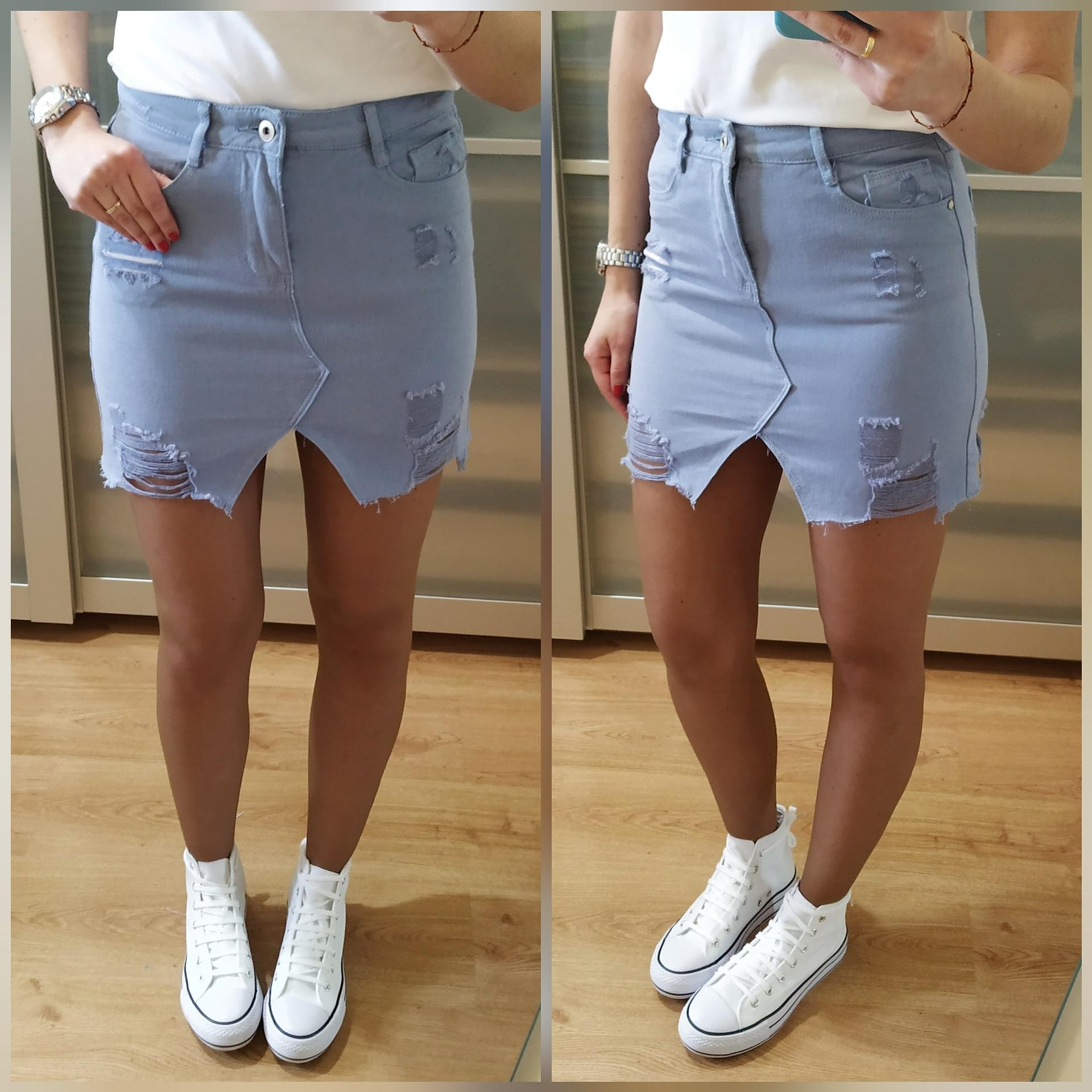 Falda Mini Azul
