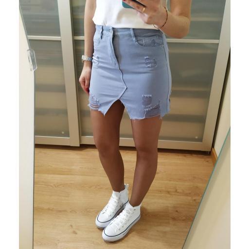 Falda Mini Azul [2]