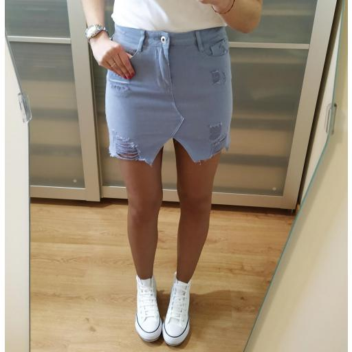 Falda Mini Azul [1]