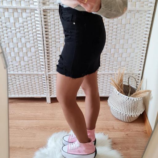 Falda Mini Negra [2]