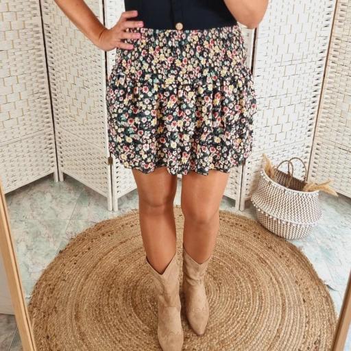 Falda Negra Flores [1]
