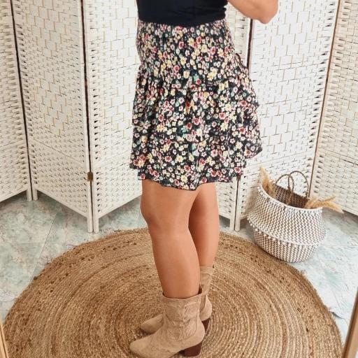 Falda Negra Flores [2]