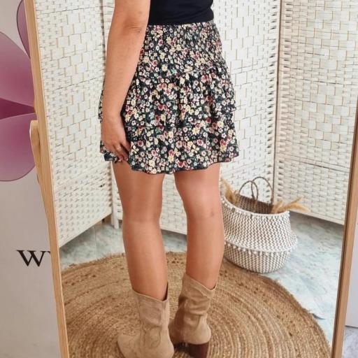 Falda Negra Flores [3]