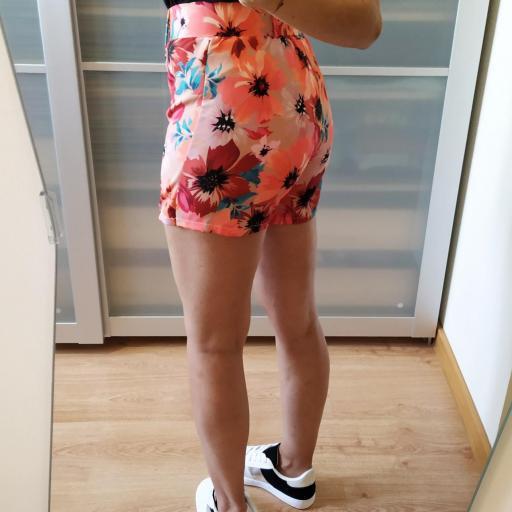 Falda-Pantalón Floral Naranja [2]