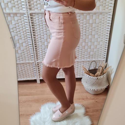 Falda Vaquera Rosa [2]